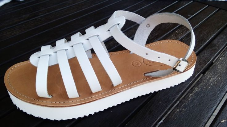Handmade gladiator leather sandals designed by Elli lyraraki