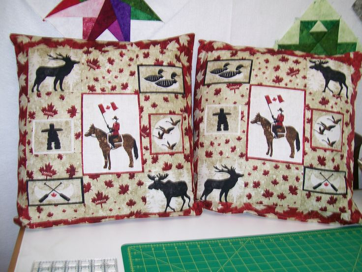 Oh Canada by Northcott  Quilted Pillow Covers