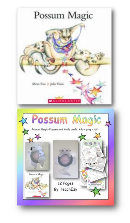 Possum Magic- written by Mem Fox and illustrated by Julie Vivas. A modern Australian classic. Full of Aussie animals and icons. The kids will love it! www.teachezy.com
