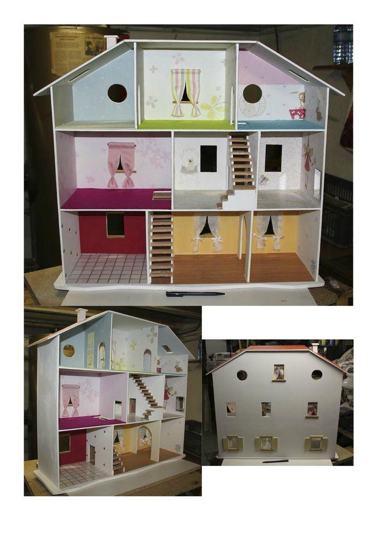 Les 25 meilleures id es de la cat gorie plans de maison de - Maison de poupee en bois a construire ...
