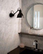 Spectacular Badezimmer Wandlampe N mit Kugelgelenk von Lampe Gras Bild