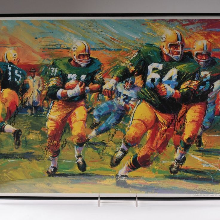 Green Bay Packers Lithograph Signed By Bart Star & Jerry Kramer