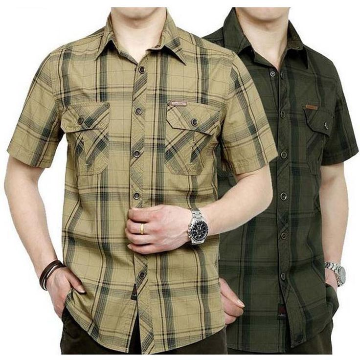 European casual style 2015 big size M 5XL obesity men s summer 100 pure cotton plaid. Click visit to buy
