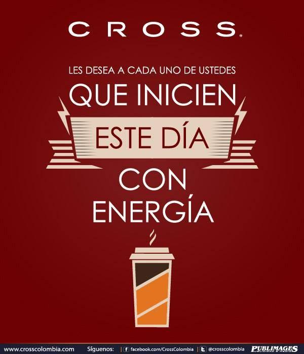 Celebra tu viernes con energía. CROSS