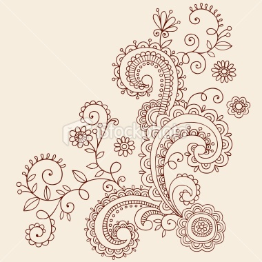 Henna Mehndi Paisley Doodles Vector Royalty Free Stock Vector Art Illustration
