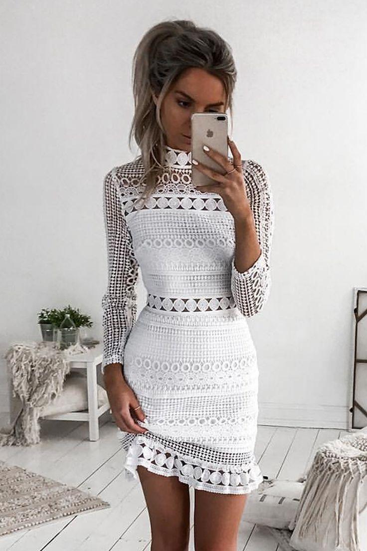 Inka lace dress yellow   best Grad dress images on Pinterest  Feminine fashion For women