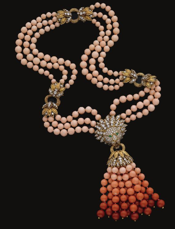 Van Cleef and Arpels coral necklace, 1970's