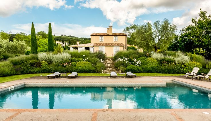 Into the woods you'll go—to escape to this exquisite stone villa with two separate annexes (with private entrances)—tucked into the rolling, verdant hills of Tuscany and San Casciano dei Bagni.