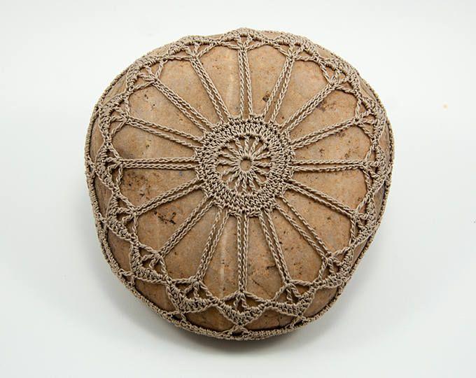 piedra de ganchillo ganchillo roca natural hilo ganchillo
