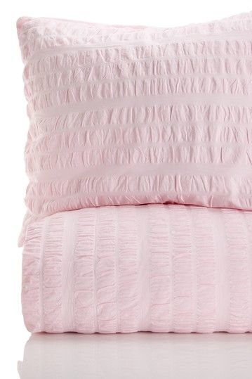 SXYZ Timeless Love Seer Sucker Cotton Duvet - Pink by Fashion Sheets and Bedding on @HauteLook