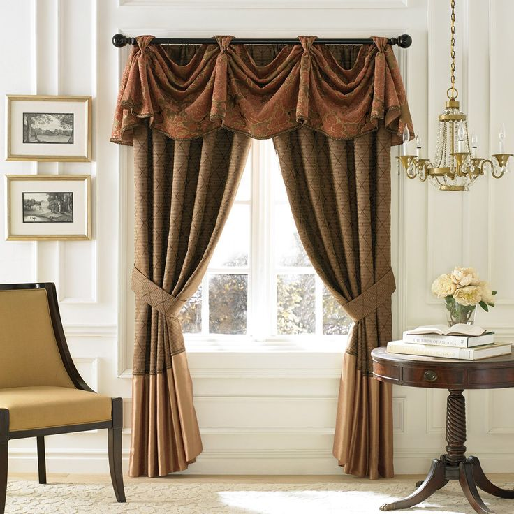 living room window valance ideas%0A Live in the lap of luxury with the opulent Croscill Couture Palazzo Prima Window  Valance  Dressed in a refined floral scroll pattern in elaborate woven