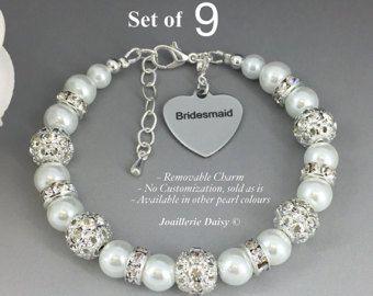 Dama de honor encanto pulsera joyería de diamantes de