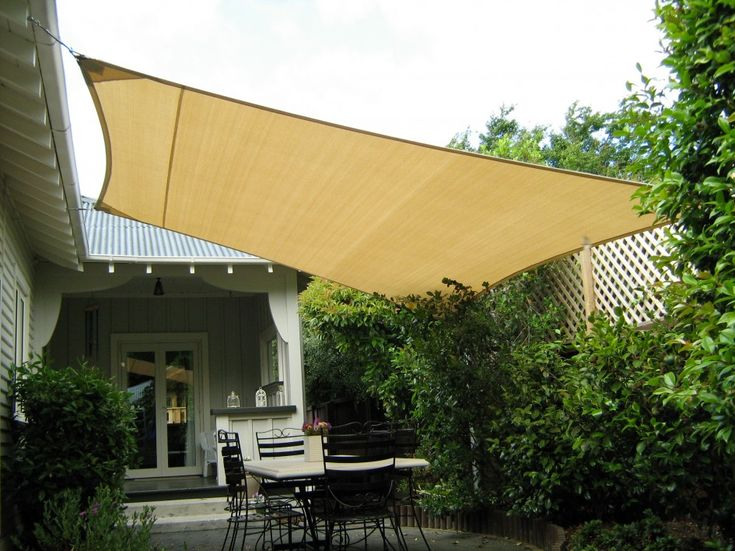 Unique Drop Roll Patio Shade And Square Sail Canopy Covers Also A Set Of  Black Iron