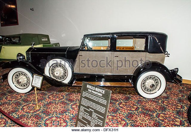 A 1930 Rolls Royce Phantom1 Marlborough Town Car at the Nethercutt Collection in Sylmar California - Stock Image