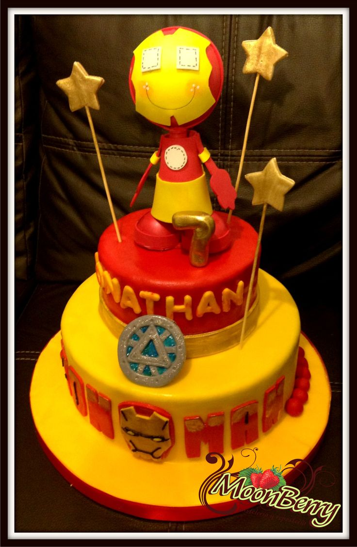 Iron Man Cake Pasteles Infantiles Ni 209 Os Pinterest