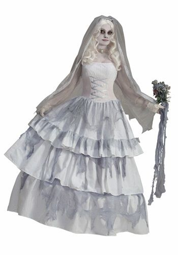 Victorian Ghost Bride Costume, great for La Llorna or Woman in White #halloween