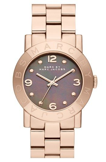 MARC BY MARC JACOBS 'Amy' Mother-of-Pearl Dial Watch, 37mm available at #Nordstrom