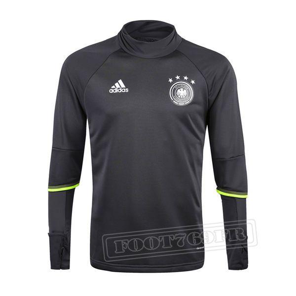 Promo:Le Meilleur Du Nouveau Training Sweatshirt Allemagne Noir 2016 2017 Slim Personnalise