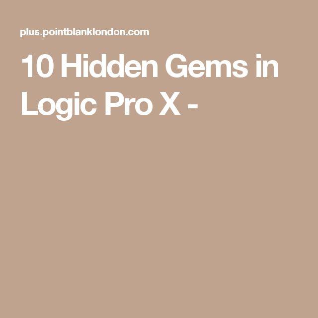 10 Hidden Gems in Logic Pro X - Mais