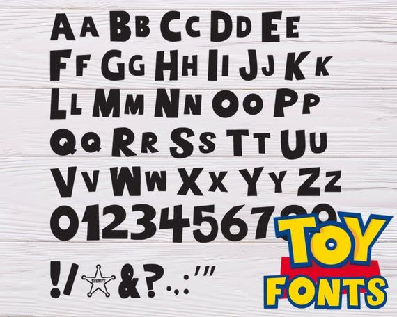 Toy Story Font Svg Toy Story Alphabet Toy Story Numbers Toy Etsy 2021 フォント メッセージ