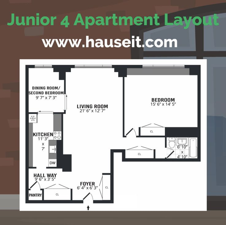 What Is A Junior 4 Apartment In Nyc Junior Four Vs 2 Bedroom In Nyc Nyc Real Estate Apartment Layout Apartment