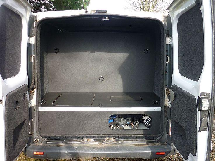 Vauxhall Vivaro Mtb Conversion Garage Storage Area And