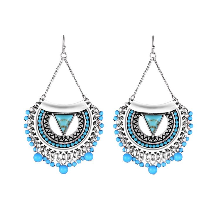Find More Drop Earrings Information about 2015 Hot  Boho Earrings Popular 2 Colors Alloy Beads Vintage Big Drop Earrings New Women Statement Earrings Max Brincos Jewelry,High Quality beaded velvet,China bead jewelry earrings Suppliers, Cheap earrings bear from Huimei Jewelry Co., Ltd. on Aliexpress.com