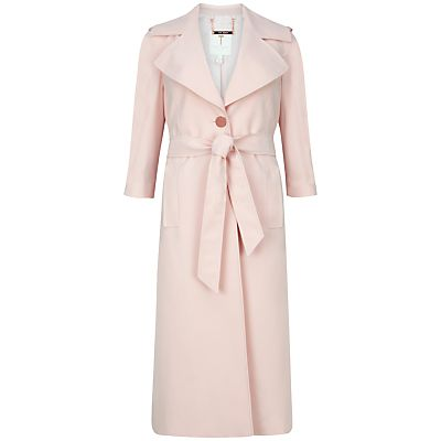 Ted Baker Deconstructed Trench Coat, Baby Pink