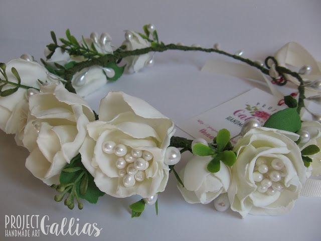 ProjectGallias: #projectgallias, rękodzieło, handmade, wianek, wianuszek, na głowę, hair garland, crown, komunia, communion,