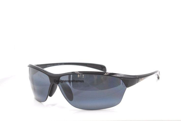 MAUI JIM Hot Sands MJ 426 02 Gloss Black Gray Polarized Sunglasses AUTH NWC #MauiJim #Sport