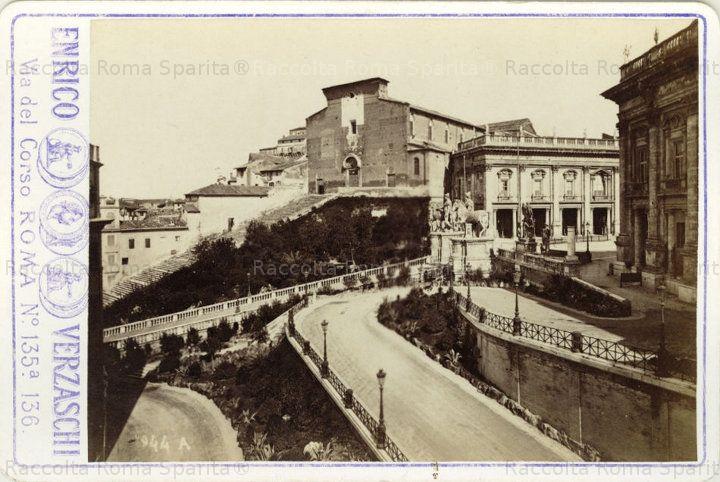 Il Campidoglio 1885 ante distruzioni pro vittoriano