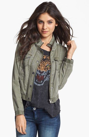 cropped military bomber jacket