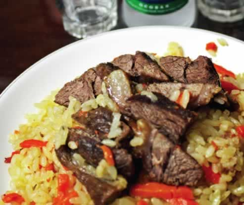 Tiny neighborhood in Seoul serves up mountains of central Asian fare