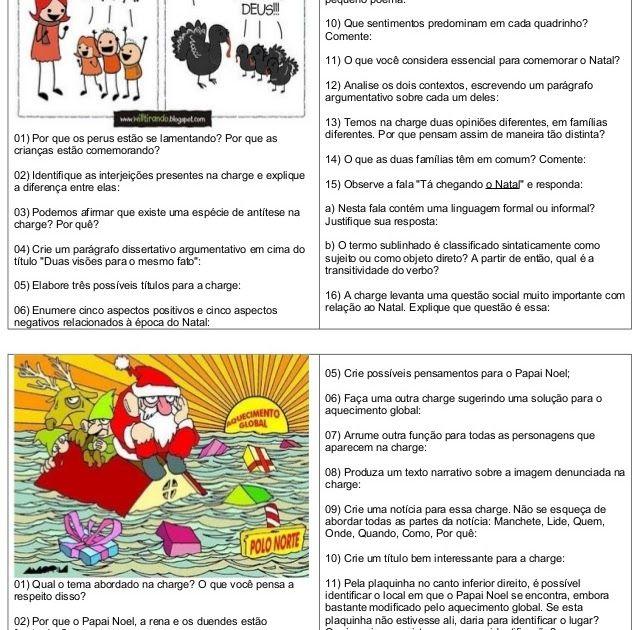 Interpretacao Charges Natal Metodos De Alfabetizacao Ensino