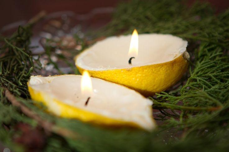 Velas naturales de limon y naranja se puede hacer una vela - Ambientador casero limon ...