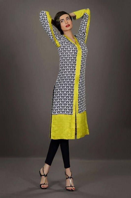 Black is still under the yellow.....try BLUE! ----Silk By Fawad Khan Winter Dresses 2013 For Women