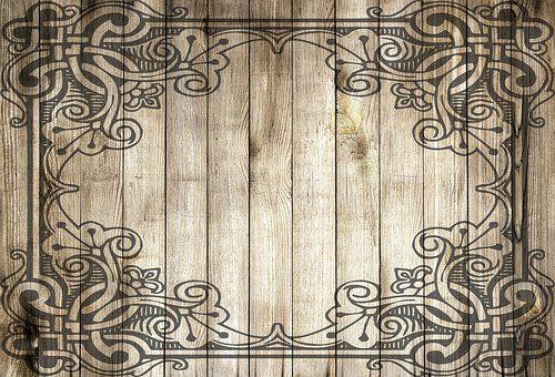 Holz, Rahmen, Umrandung, Dekoration