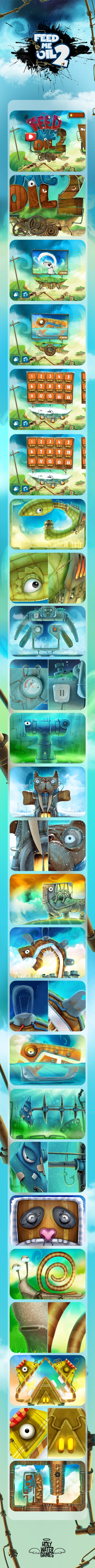 Feed Me Oil 2 - iPhone / iPad game by Burç Pulathaneli, via Behance