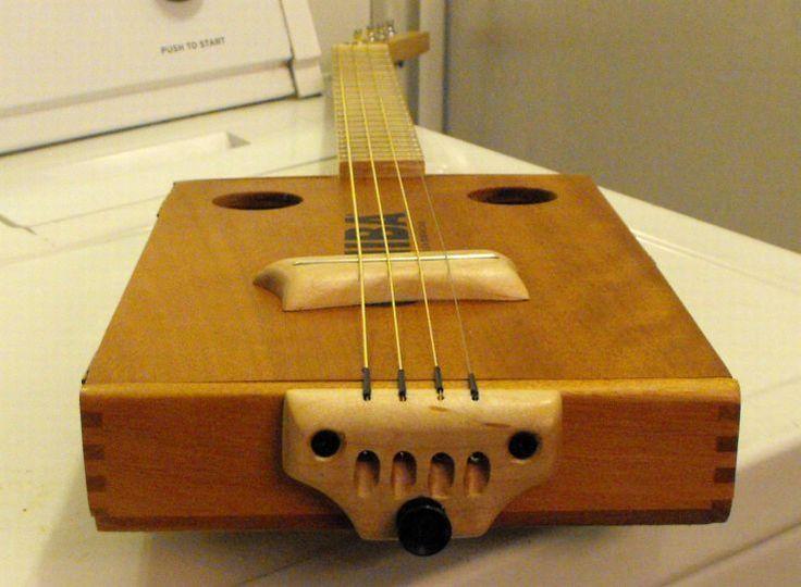Bridge Idea Hand Crafted Music Box Guitar Cigar Box