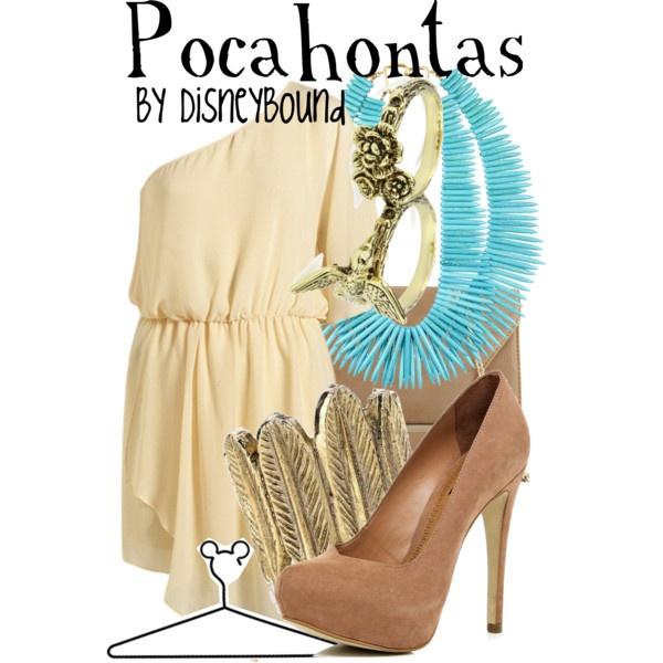"""Pocahontas"" by lalakay on Polyvore #disneyTheme Outfit, Pocahontas Outfit, Disney Princesses, Disney Outfit, Inspiration Outfit, Disney Bound, Disneybound Outfit, Pocahontas Disneybound, Disney Fashion"