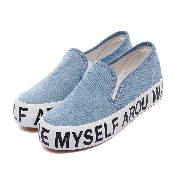 Zapatillas de lona muy cómodas