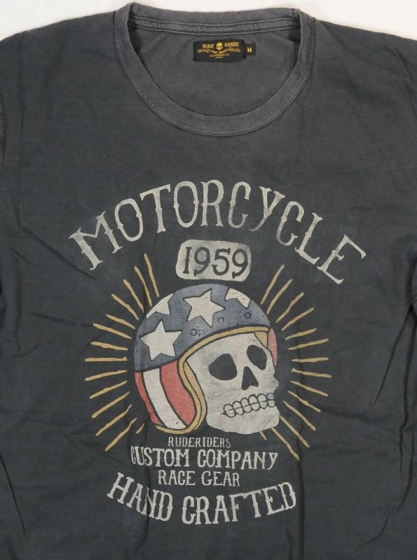 RUDE RIDERS - T-Shirt - Race 1959 Men - Grey
