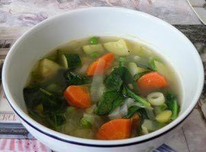 Spring Vegetable Soup: Low Fat Spring Vegetable Soup