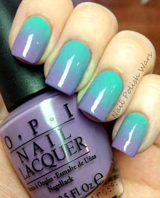 I just tried this with OPI Do You Lilac It? And Essie Turquoise & Caicos... It looks soooo cool! :)