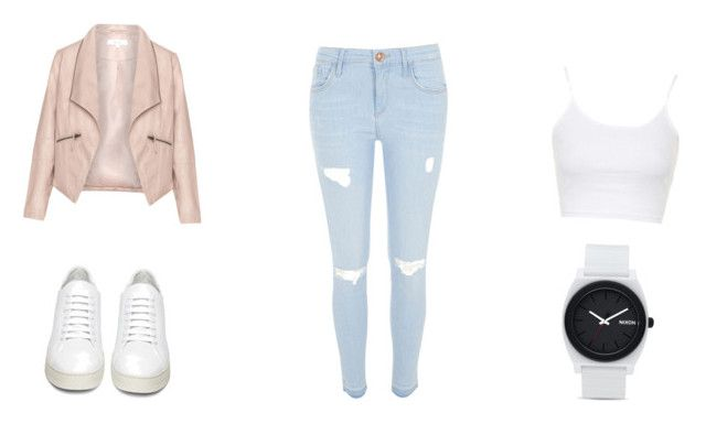 """Untitled #10"" by tiril-solberg-1 on Polyvore featuring beauty, Zizzi, River Island, Topshop, Off-White and Nixon"