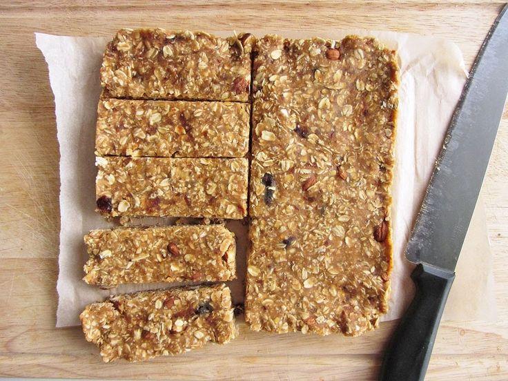no bake lentil peanut butter granola bars