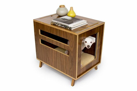 Mid Century Modern Pet Furniture // Dog Crate // by modernistcat