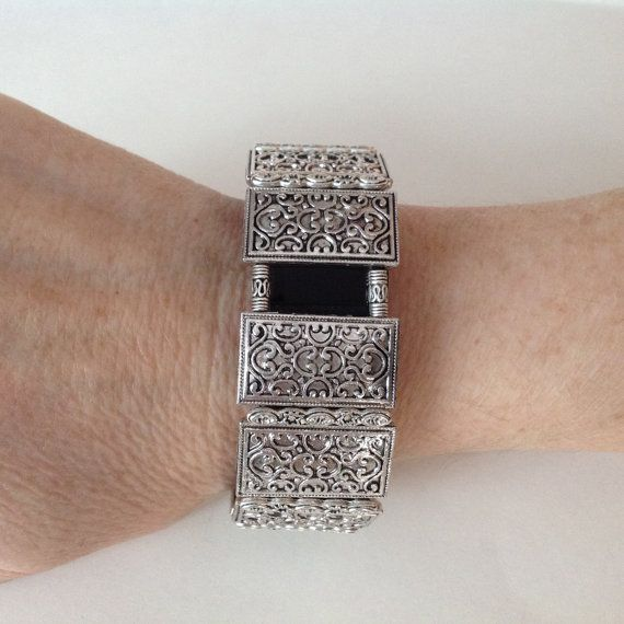 FitBit Charge HR Bracelet Cover Up: Antique Silver by FITnessBITsy