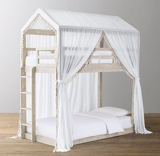 Cole House Bunk Bed Tassel Voile Canopy Natural In 2020 Bed