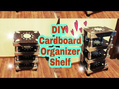 how to make a shelf from cardboard